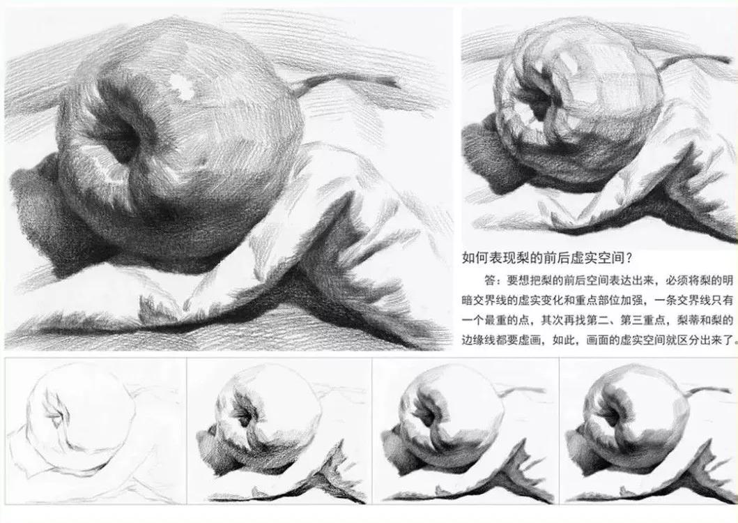 广州画室,苹果素描步骤