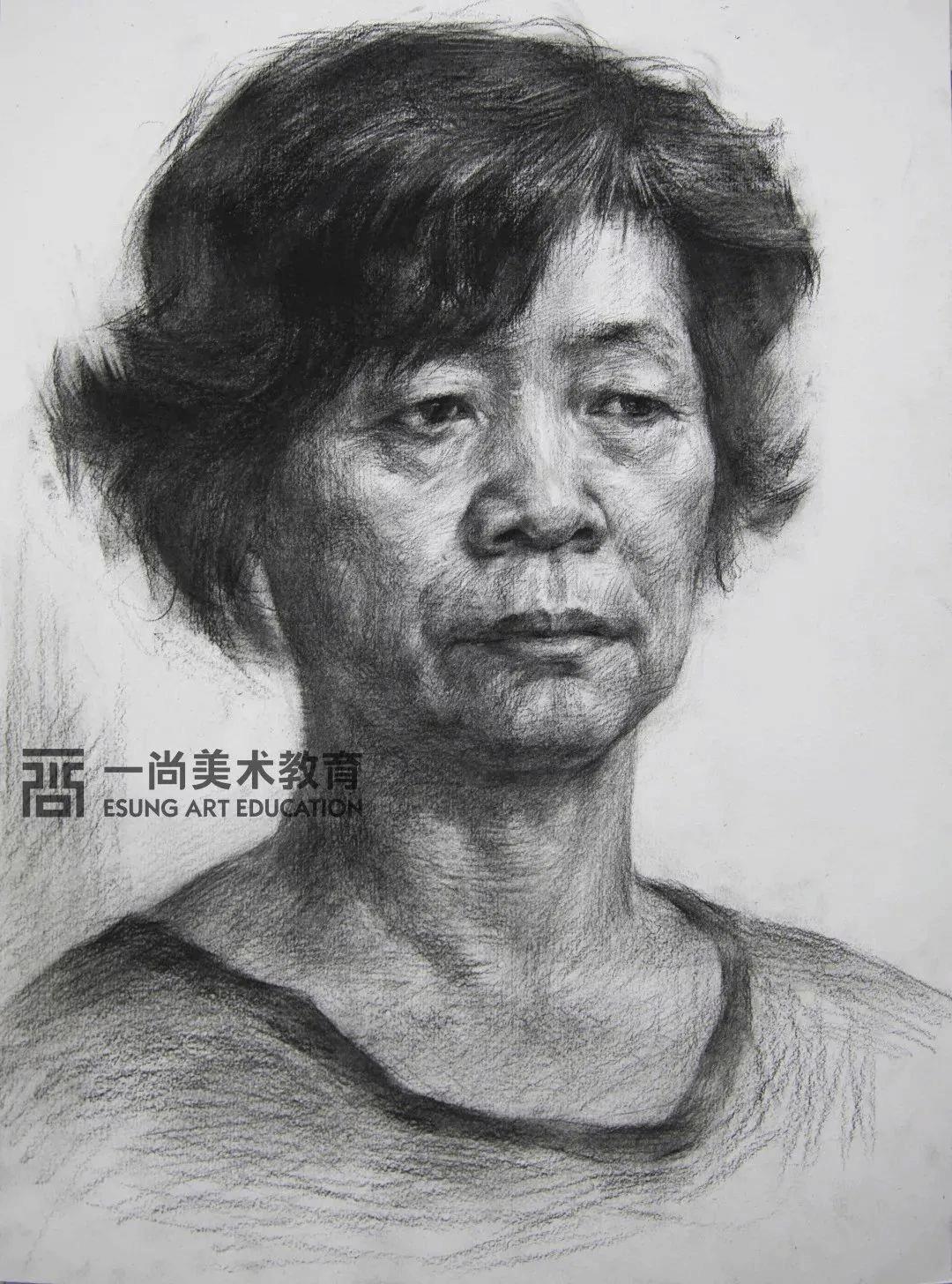 广州画室考题,素描头像