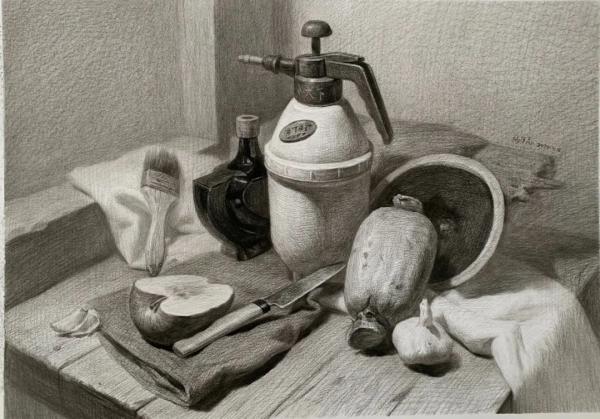 素描静物,造型能力,济南画室